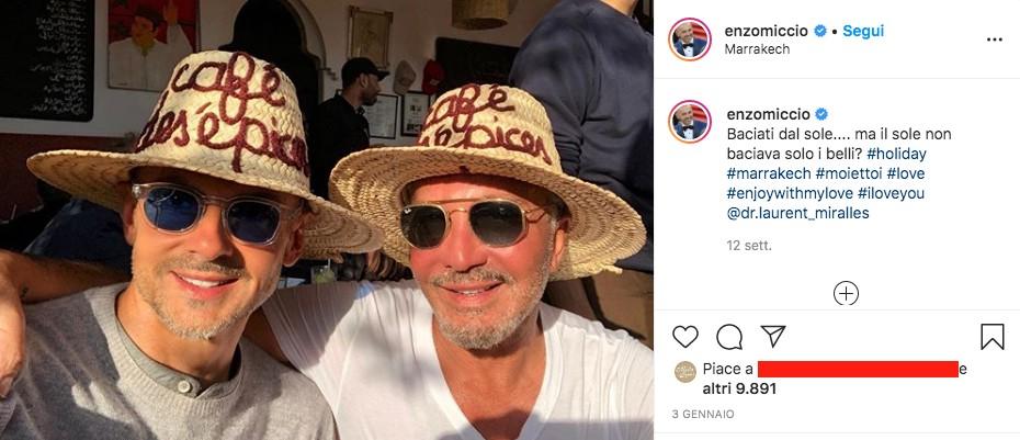Enzo Miccio e Laurent su Instagram