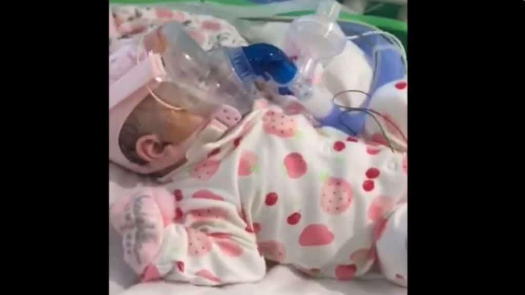 la piccola Erin guarita da Covid-19