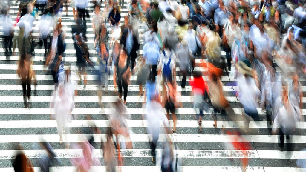 Folla in città