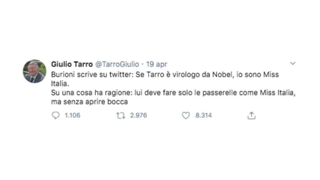 giulio tarro roberto burioni twitter