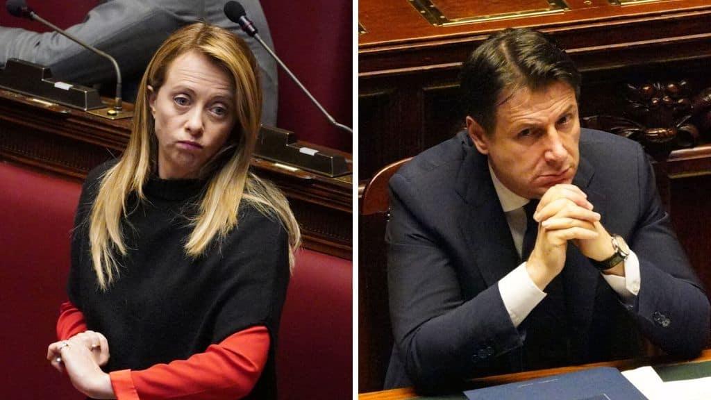 Giorgia Meloni e Giuseppe Conte