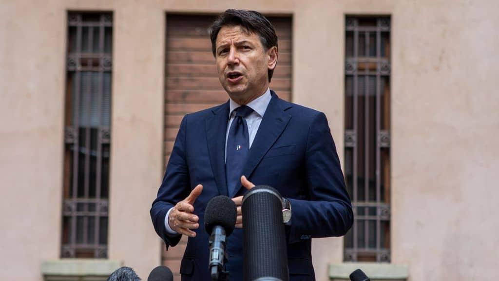 Il premier Giuseppe Conte a Lodi