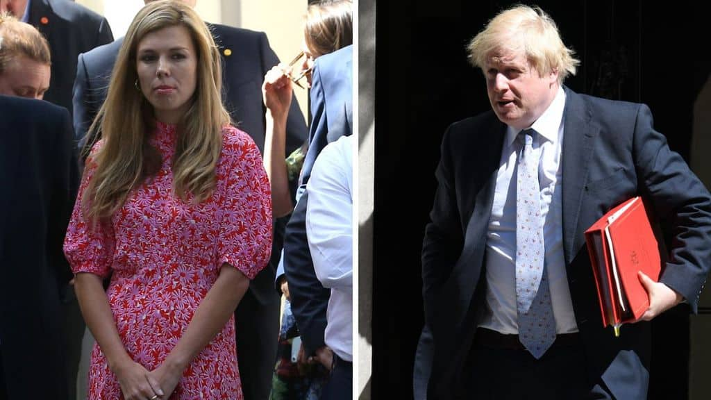 Carrie Symonds e Boris Johnson