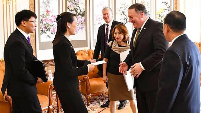 Kim Yo-Jong incontra Mike Pompeo