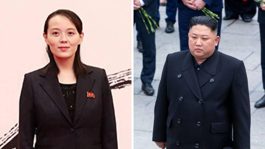 A destra Kim Yo Jong e a sinistra Kim Jong Un