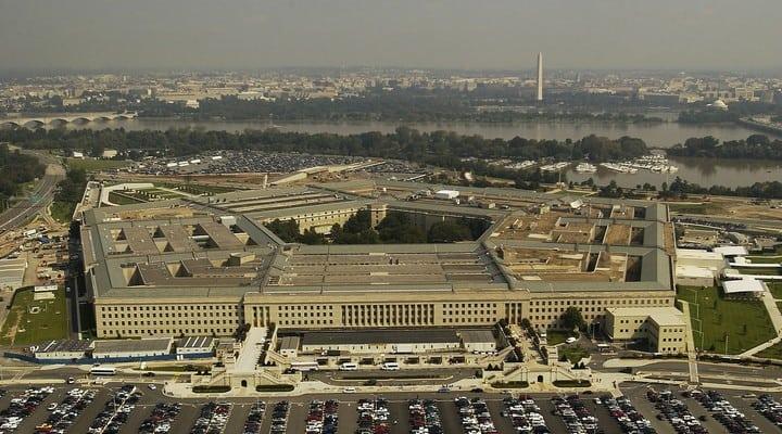 Pentagono, Dipartimento della difesa, in una foto dall'alto