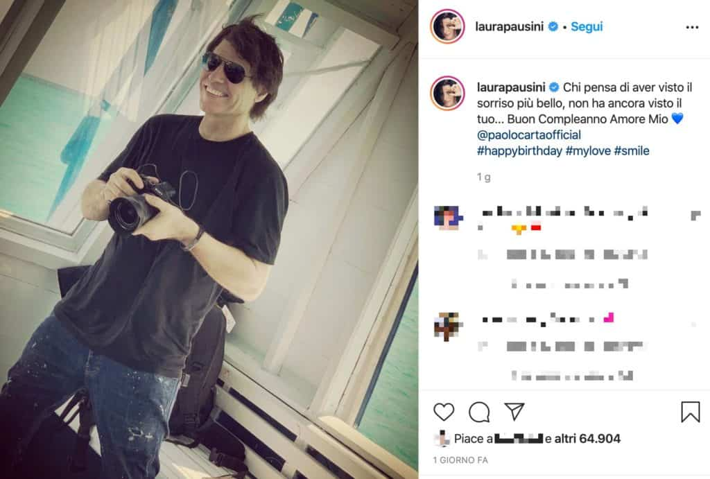 Il post su Instagram di Laura Pausini