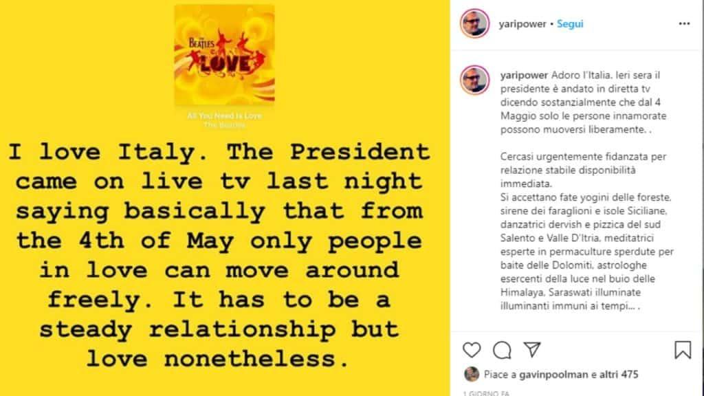 il post di Yari Carris