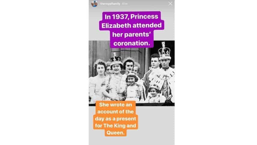 La regina madre, Elisabetta, Margareth e re Giorgio VI nel giorno dell'incoronazione del re