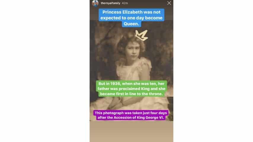 La regina Elisabetta a 10 anni, in occasione della nomina a erede al trono