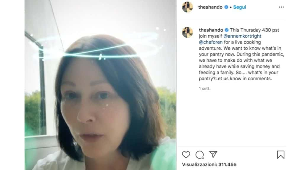 shannen doherty senza trucco