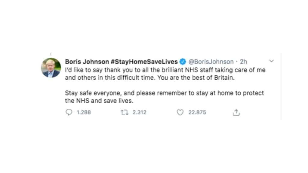 tweet boris johnson