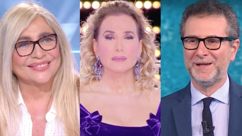 Mara Venier, Barbara d'Urso e Fabio Fazio