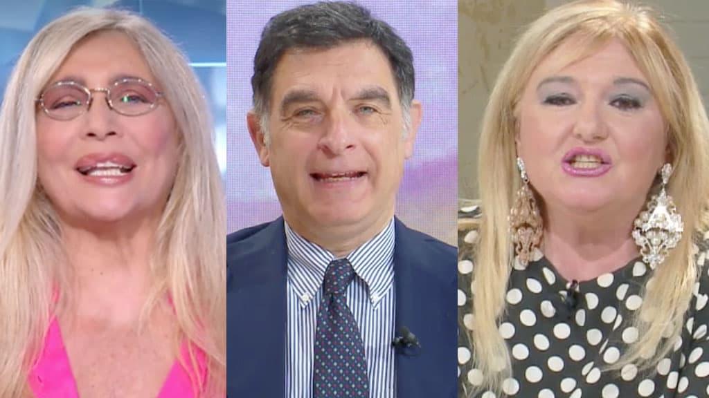 Mara Venier, Tiberio Timperi e Monica Setta