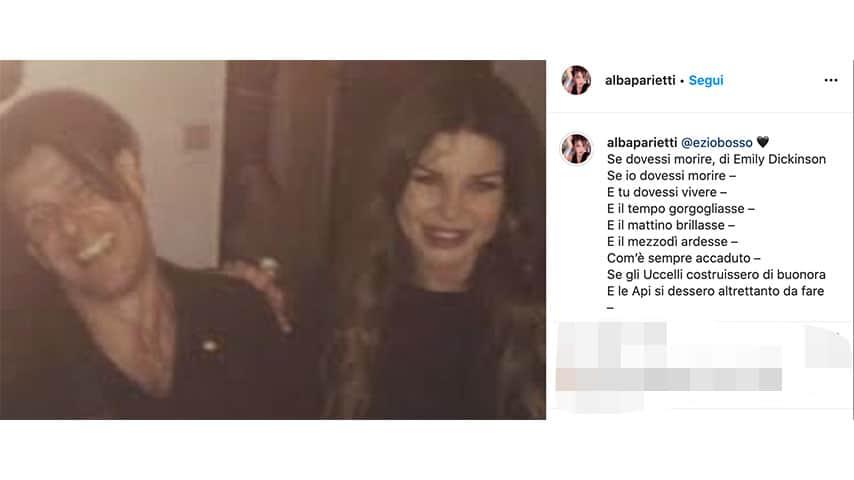 Post di Alba Parietti per Ezio Bosso su Instagram
