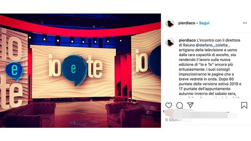 Post di Pierluigi Diaco su Instagram