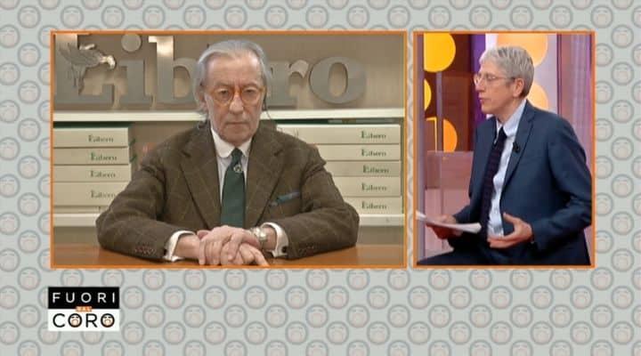 Vittorio Feltri e Mario Giordano a Fuori dal Coro