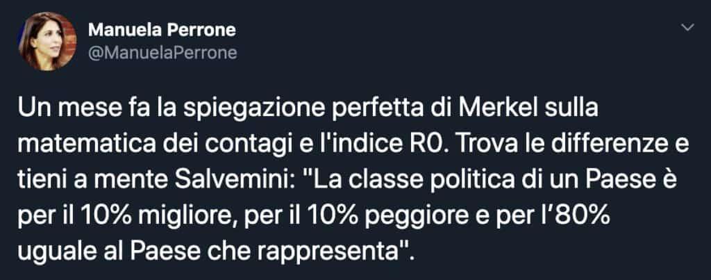 Tweet di Manuela Perrone