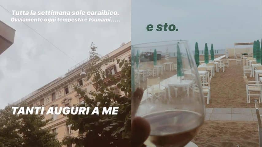 Due Storie Instagram di Sara Daniele