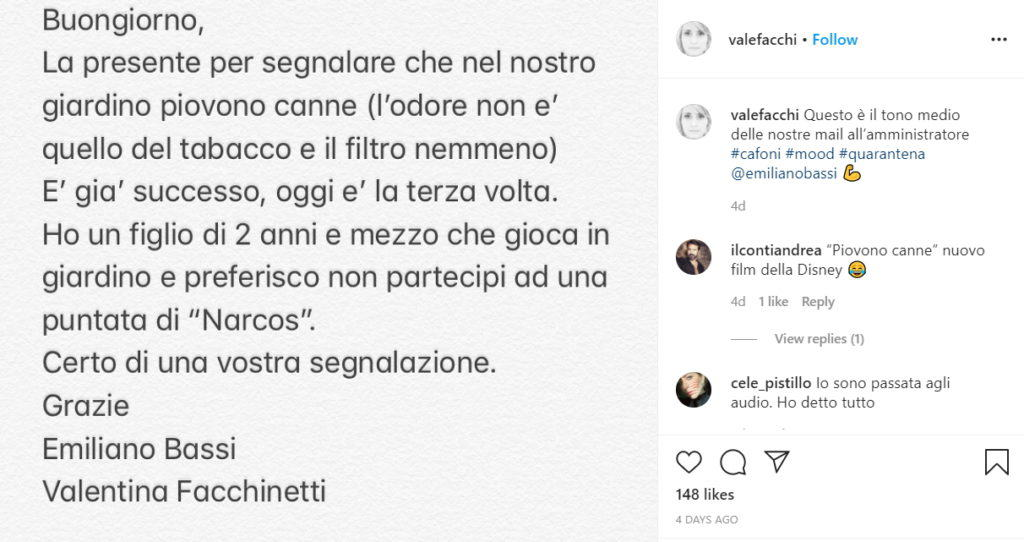 Valentina Facchinetti, Instagram