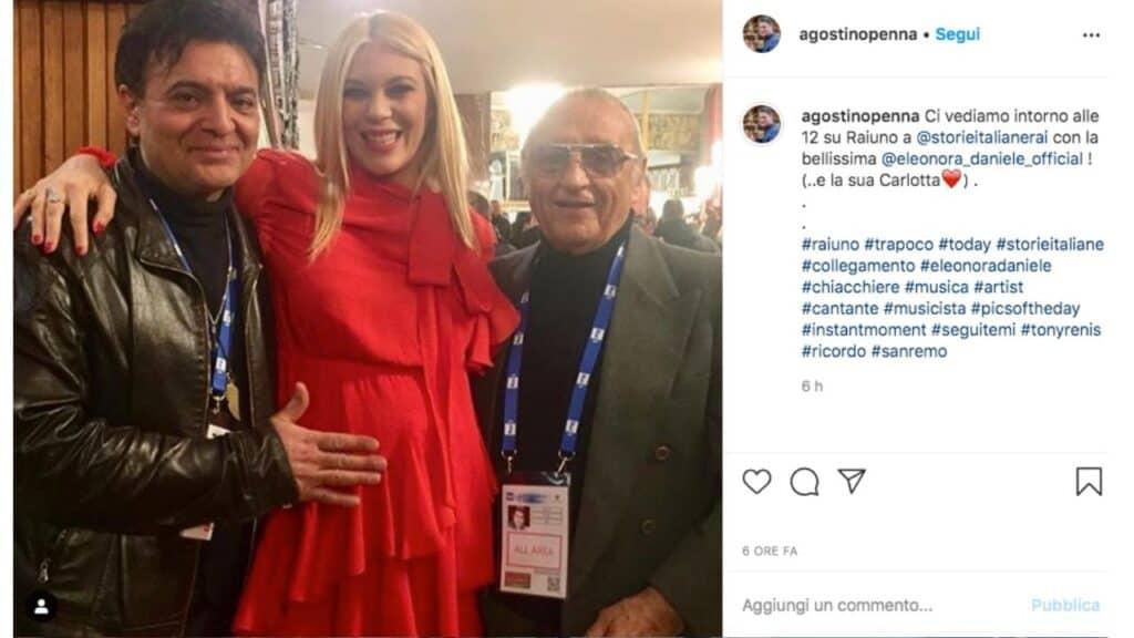 Agostino Penna con Eleonora Daniele