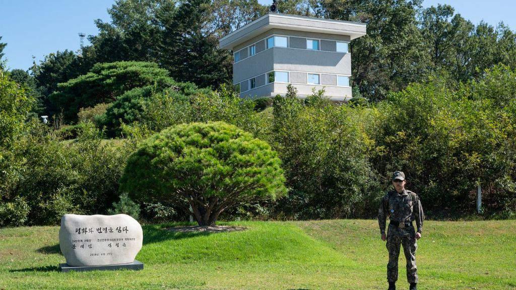 un tratto dell'area demilitarizzata tra Corea del Nord e Corea del Sud