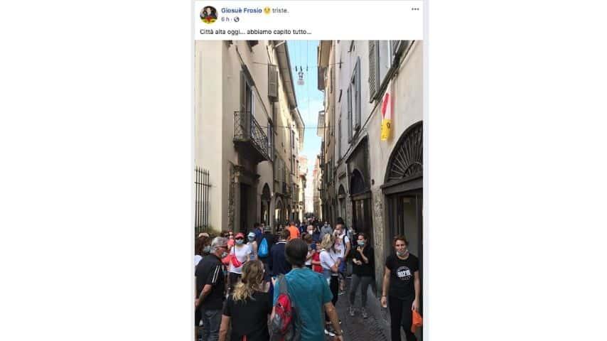 il post di Giosué Frosio su Bergamo su Facebook