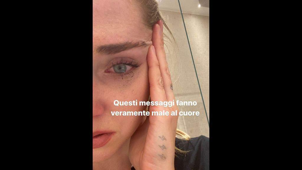 Chiara Ferragni in lacrime
