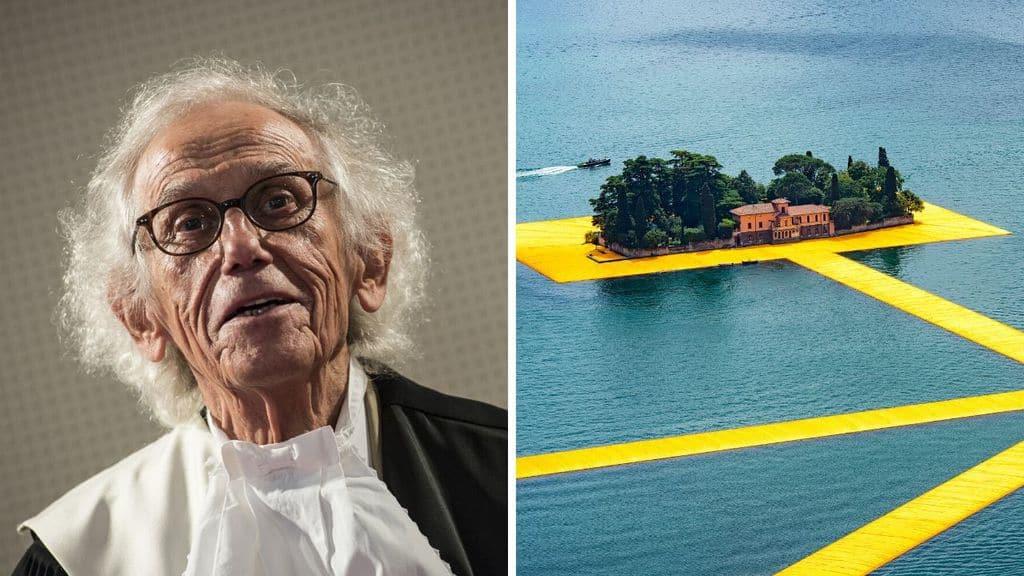 Christo, l'artista del floating Piers sul lago d'Iseo