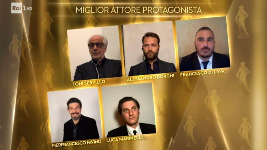 I candidati al premio miglior attore protagonista ai David di Donatello