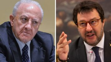 Vincenzo De Luca e Matteo Salvini