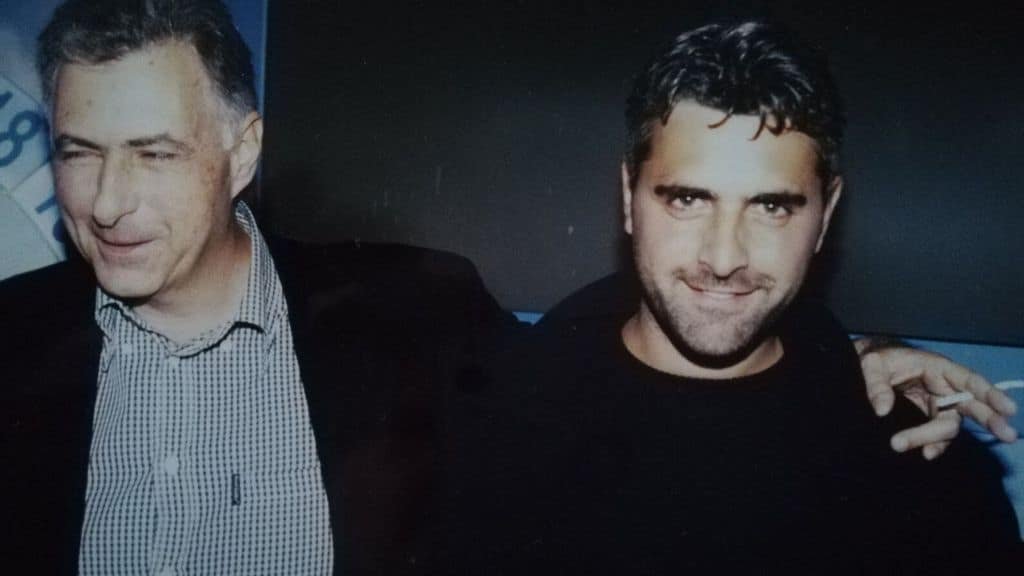 Enrico Lucci e Claudio Ferretti in una foto d'epoca
