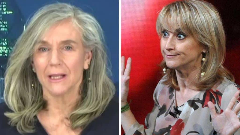 Primi piani di Giovanna Botteri e Luciana Litizzetto