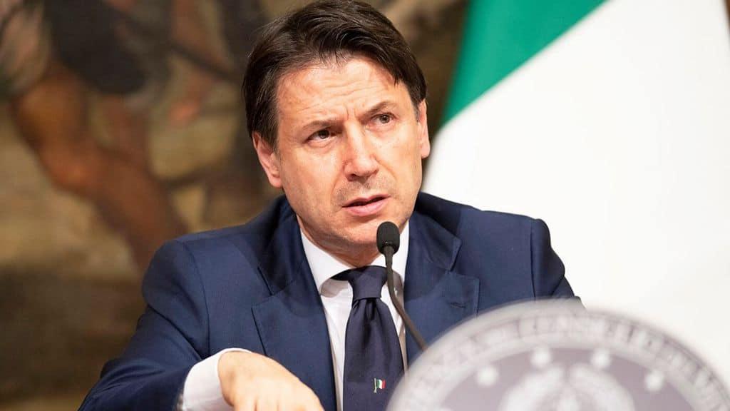 Primo piano del premier Giuseppe Conte