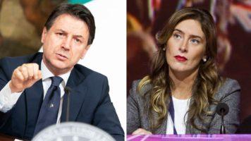 Giuseppe Conte e Maria Elena Boschi