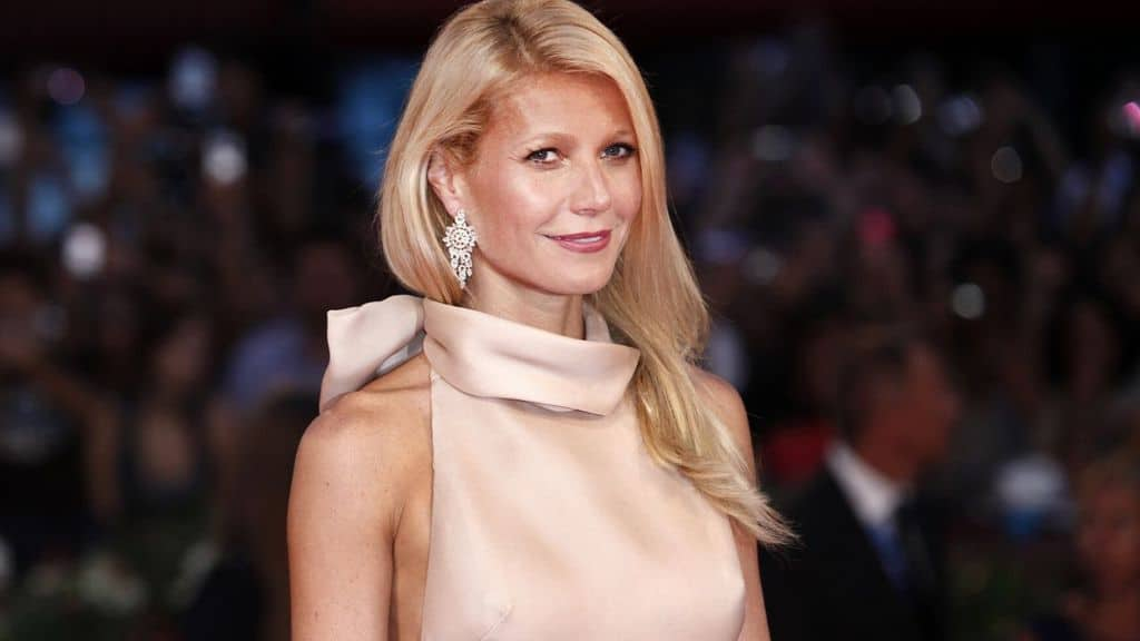L'attrice Gwyneth Paltrow sul red carpet
