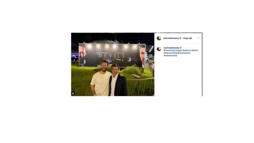 Il post di Patrick Dempsey su Instagram