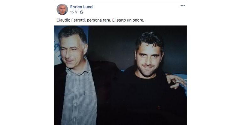 Il post di Enrico Lucci su Claudio Ferretti