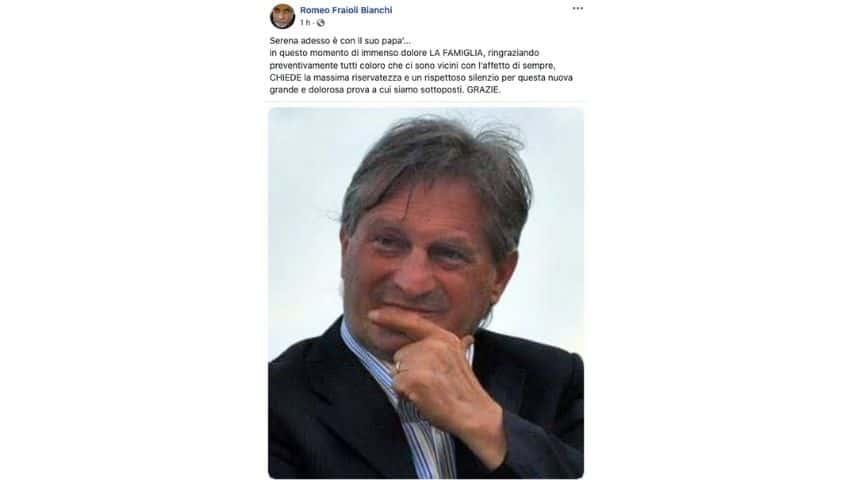 Il post del parente di Guglielmo Mollicone