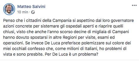 Post di Matteo Salvini