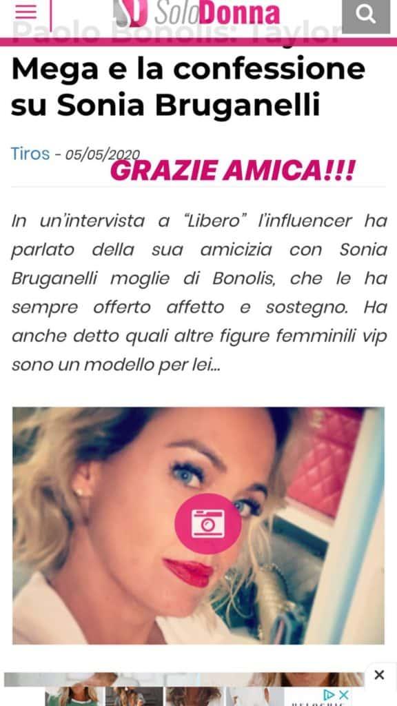 Storia di Sonia Bruganelli su Taylor Mega
