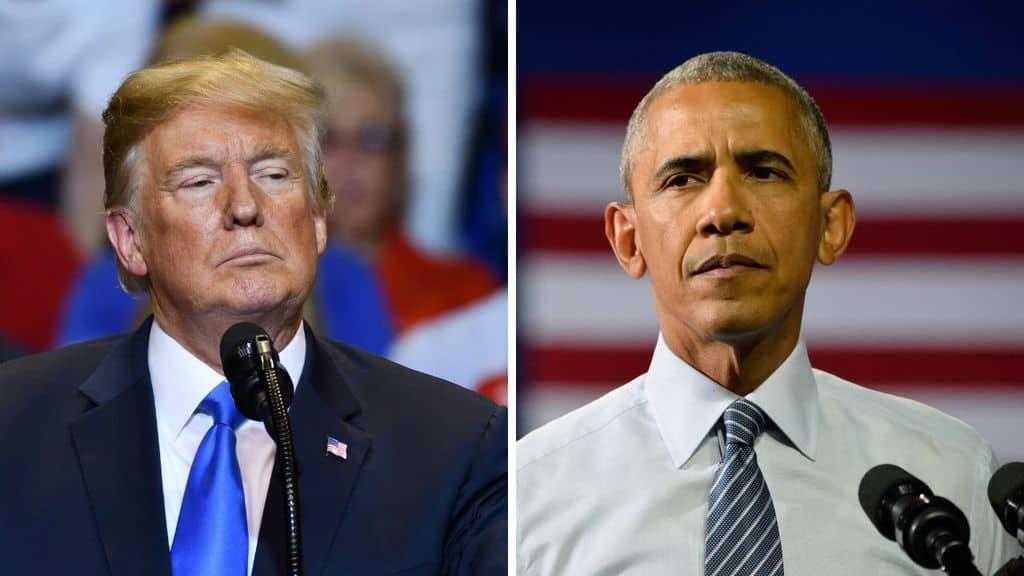 Trump e Obama in primo piano