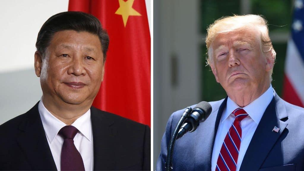 Il presidente Xi Jingping e il Presidente Trump