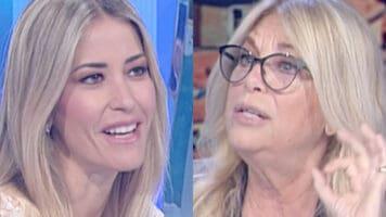 Primo piano di Elena Santarelli e Rita Dalla Chiesa