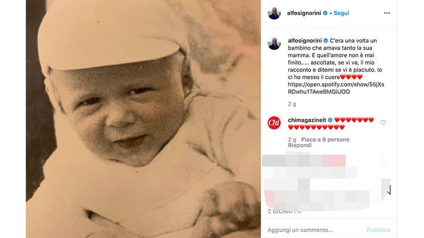 Post di Alfonso Signorini su Instagram