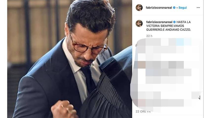Post di Fabrizio Corona su Instagram