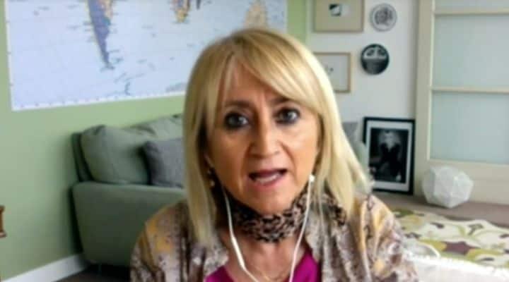 Luciana Littizzetto in video-collegamento a Domenica In