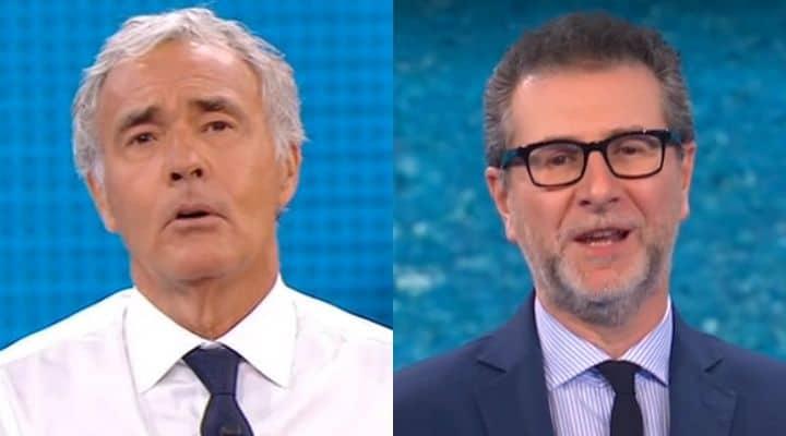 Massimo Giletti e Fabio Fazio primi piani