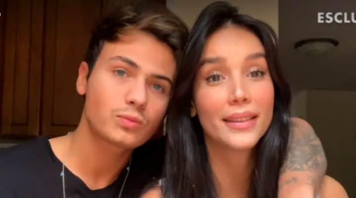Paola Di Benedetto e Federico Rossi video-messaggio verissimo
