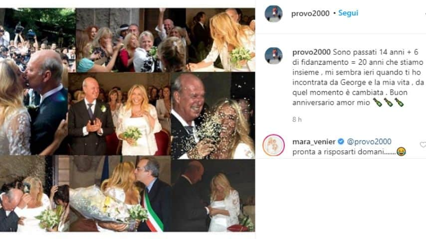 Il messaggio di Nicola Carraro a Mara Venier